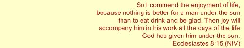Ecclesiastes 8:15