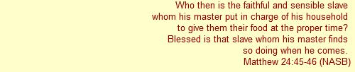 Matthew 24:45-46
