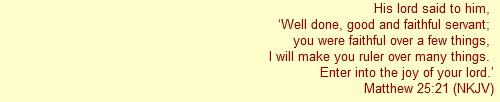 Matthew 25:21